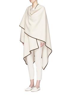 The Row'Dusana' goatskin suede trim Merino wool-cashmere cape