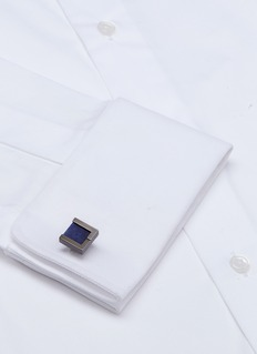 Lanvin Interchangeable rectangle gemstone cufflinks