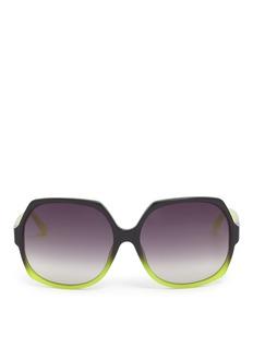 MATTHEW WILLIAMSONTwo-tone oversized angled sunglasses