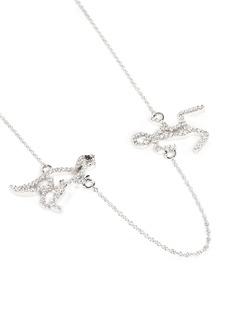 Khai Khai 'Running Man' diamond necklace