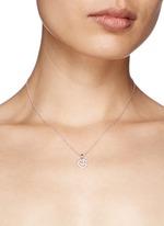 'At @' diamond pendant necklace