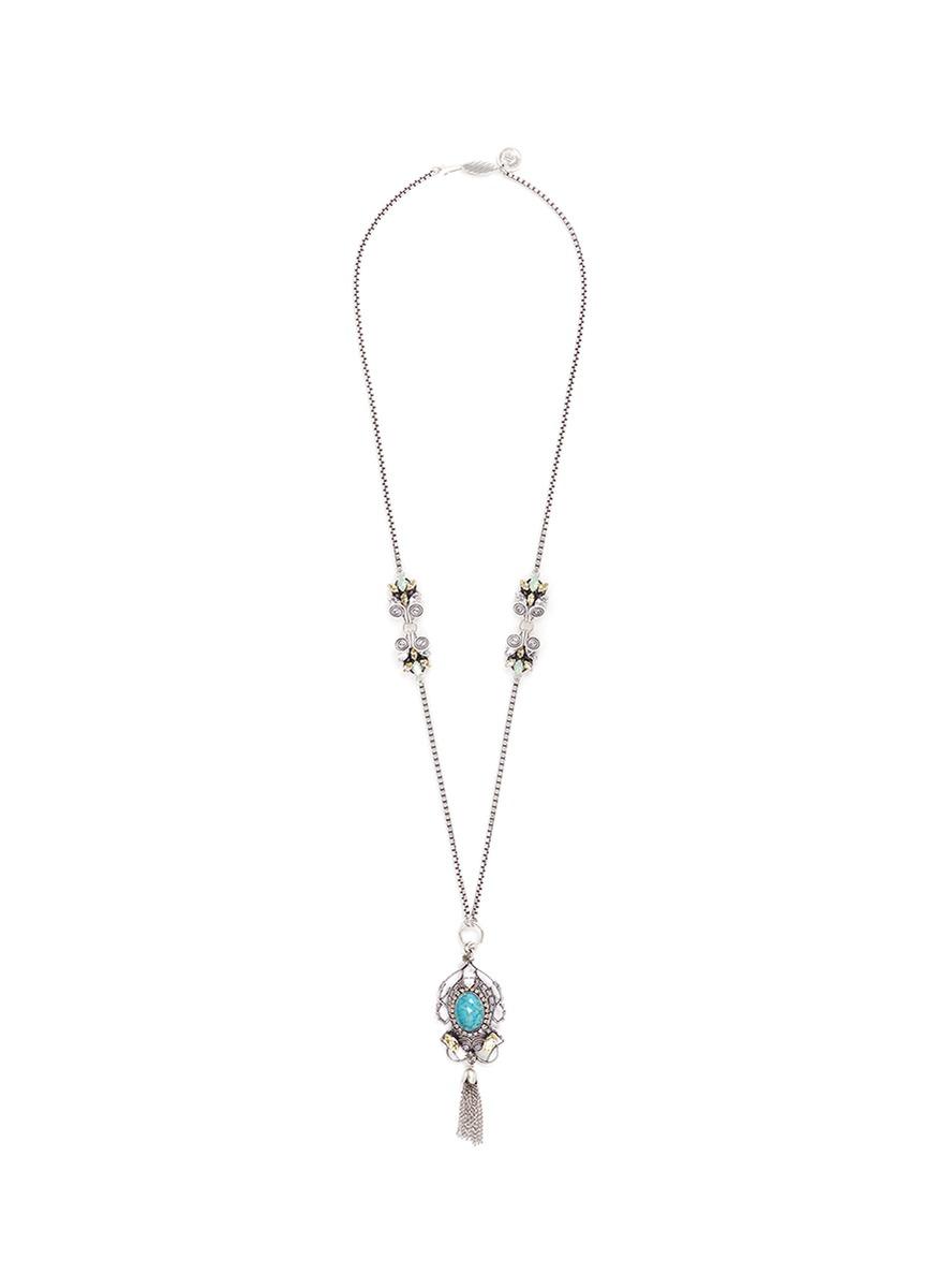 Swarovski crystal filigree chandelier necklace by Anton Heunis