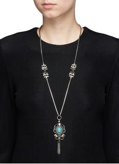Anton HeunisSwarovski crystal filigree chandelier necklace
