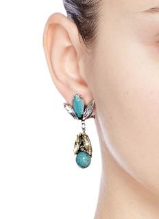 Anton HeunisSwarovski crystal vintage stone cluster drop earrings