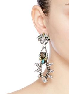 Anton HeunisSwarovski crystal chandelier earrings