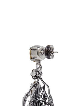 Detail View - Click To Enlarge - Anton Heunis - Swarovski crystal vintage stone chandelier earrings