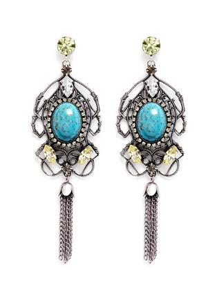 Main View - Click To Enlarge - Anton Heunis - Swarovski crystal vintage stone chandelier earrings