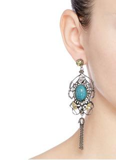 Anton HeunisSwarovski crystal vintage stone chandelier earrings
