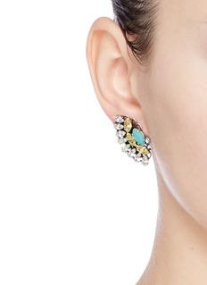 Anton HeunisSwarovski crystal fan earrings
