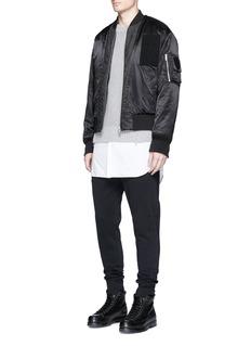 3.1 Phillip LimQuilted trim cotton jogging pants