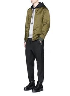 3.1 Phillip LimQuilted cropped wool jogging pants
