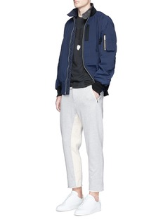 3.1 Phillip LimRaw cuff cropped cotton jogging pants