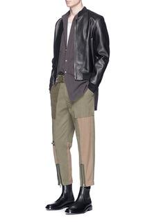 3.1 Phillip LimZip cuff patchwork canvas flight pants
