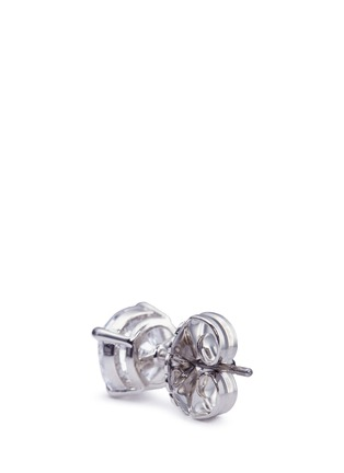 Detail View - Click To Enlarge - CZ by Kenneth Jay Lane - Round cut cubic zirconia large stud earrings