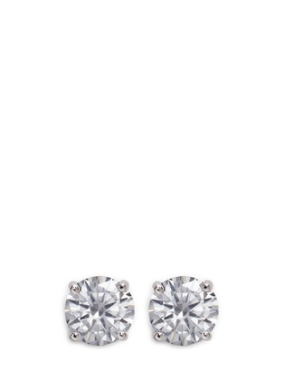 Main View - Click To Enlarge - CZ by Kenneth Jay Lane - Round cut cubic zirconia large stud earrings