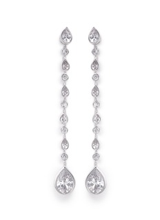 CZ by Kenneth Jay Lane Pear cut cubic zirconia drop earrings