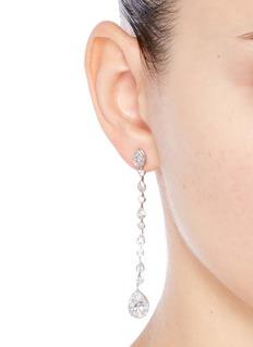CZ by Kenneth Jay LanePear cut cubic zirconia drop earrings