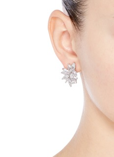 CZ by Kenneth Jay LaneCubic zirconia cluster clip earrings