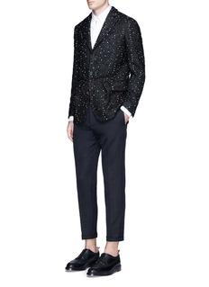 Wooster + LardiniTextured polka dot soft shimmer blazer