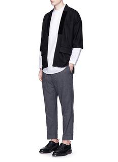 Wooster + LardiniCashmere kimono jacket