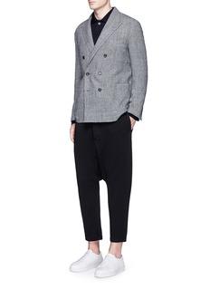 Wooster + LardiniWool-blend drop crotch pants