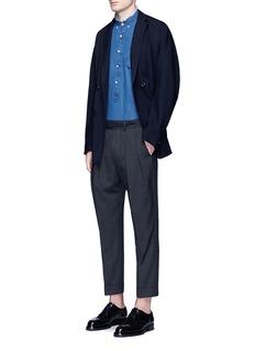 Wooster + LardiniPleated herringbone wool pants