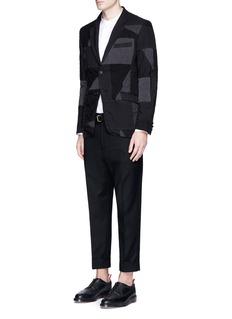Wooster + LardiniBuckle strap cropped wool pants