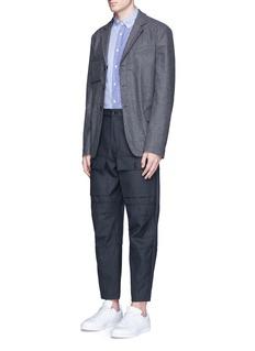 Wooster + LardiniPatchwork stripe cotton poplin shirt