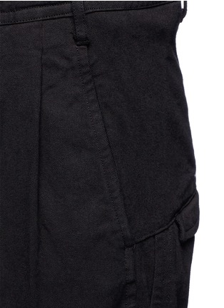 Detail View - Click To Enlarge - The Viridi-anne - Poplin cuff pleated twill pants