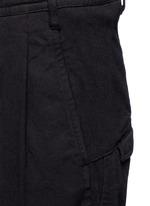 Poplin cuff pleated twill pants