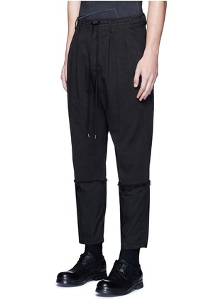 Front View - Click To Enlarge - The Viridi-anne - Poplin cuff pleated twill pants