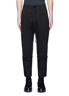 The Viridi-anne Poplin cuff pleated twill pants