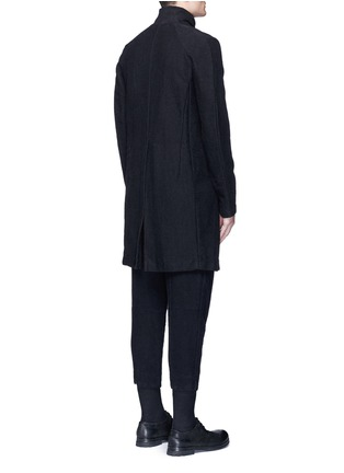 Back View - Click To Enlarge - The Viridi-anne - Textured cotton coat