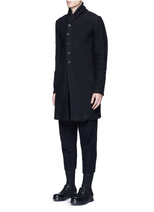 Front View - Click To Enlarge - The Viridi-anne - Textured cotton coat