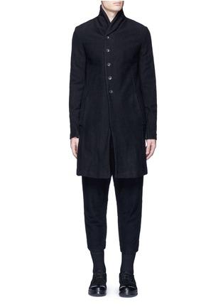 The Viridi-anne-Textured cotton coat