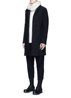 The Viridi-anneTextured cotton coat