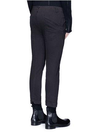 Back View - Click To Enlarge - The Viridi-anne - Twill slim fit pants