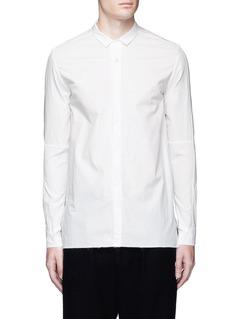 The Viridi-anneAsymmetric cuff thumbhole shirt