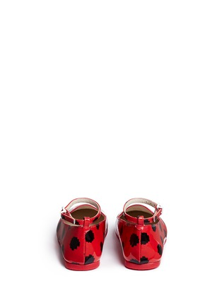 Back View - Click To Enlarge - Sophia Webster - 'Bibi Butterfly' polka dot print patent leather toddler ballerina flats