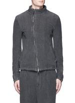Textured cotton zip jacket