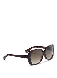 DIOROversized tortoiseshell sunglasses