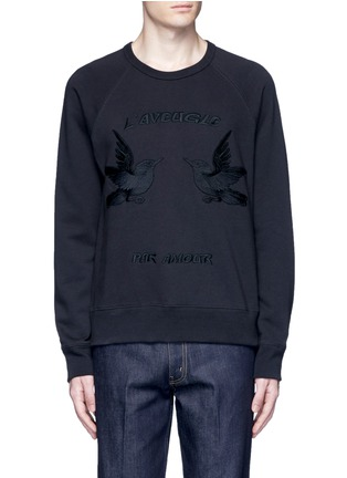 Main View - Click To Enlarge - Gucci - Bird embroidery sweatshirt