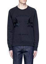 Bird embroidery sweatshirt