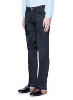 Bird embroidery slim fit jeans