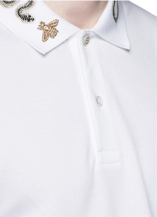 Gucci - Snake and bee polo shirt