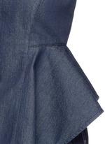 'Kalsing D' denim peplum sleeveless top