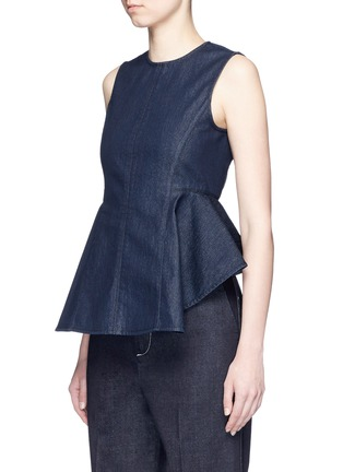 Front View - Click To Enlarge - Theory - 'Kalsing D' denim peplum sleeveless top