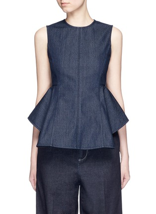 Main View - Click To Enlarge - Theory - 'Kalsing D' denim peplum sleeveless top