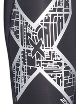 'Compression' metallic logo print performance tights