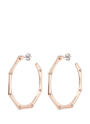 W.Britt - 'Cog Hoops' rivet stud earrings